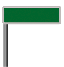 menu road sign home