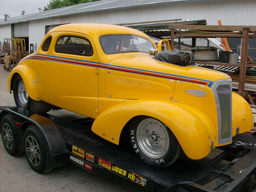 1937 Chevy chopped and painted by Dean