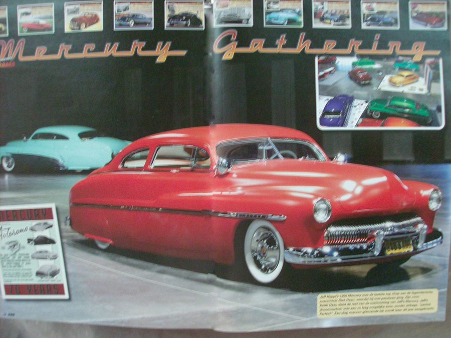 Body and paint on Dick Dean's last chopped Merc. owned by Jeff Neppl.