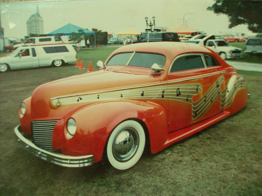 Kid Dean's first chop '40 Merc. owned by Harold Saul.