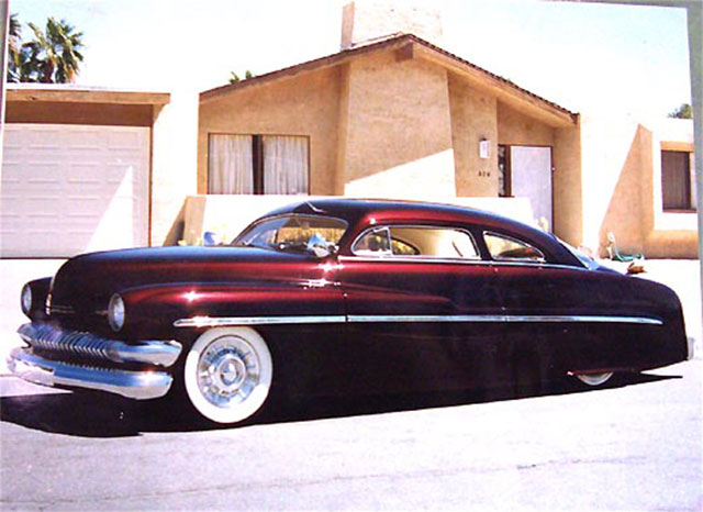 Maroon '51 Mercury built for Ron Quigley.