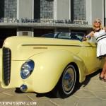 Light yellow '40 Mercury built for Harold Saul.