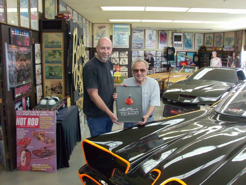 "Keith with George Barris ""King of the Kustoms"" creator of the originial TV ""Batman"" batmobile"