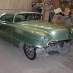 Bob Neppl's 1956 Cadillac.  Customizations include chopped top, shaved door handles and custom wheel skirts.