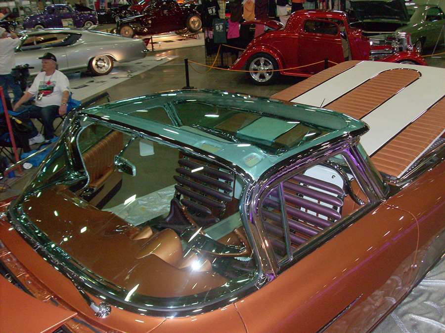 Mike Garner's 1959 El Camino Custom -  Roof and Interior view