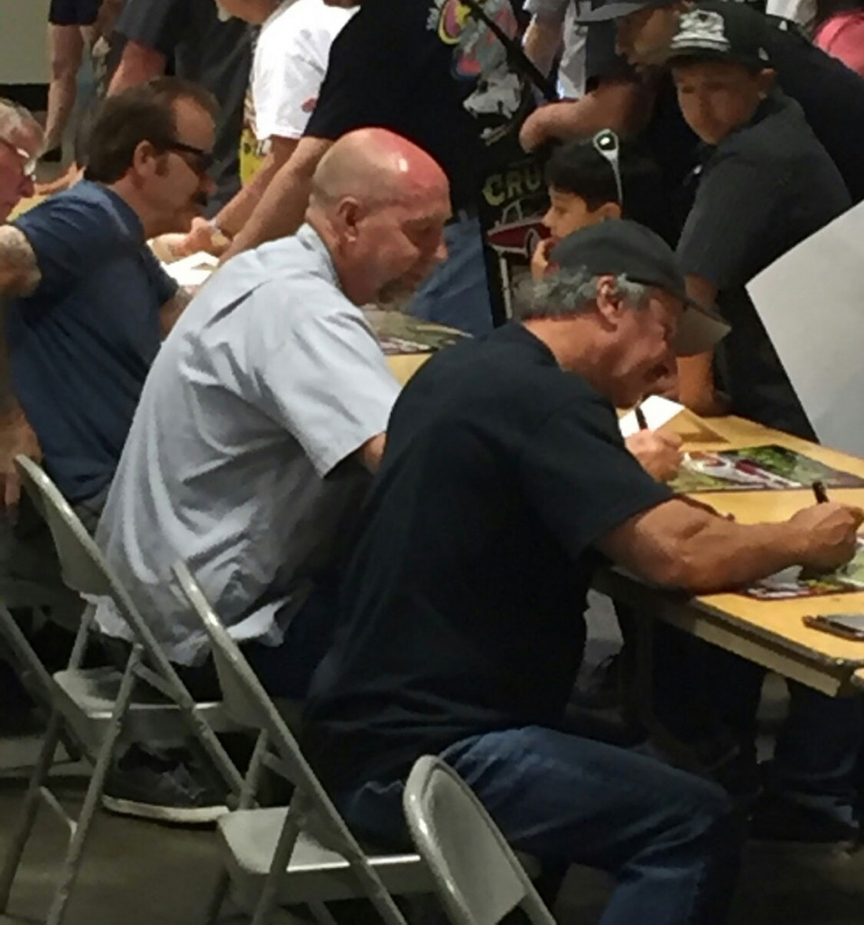 Keith signing autographs at the West Coast Customs Hall of Fame