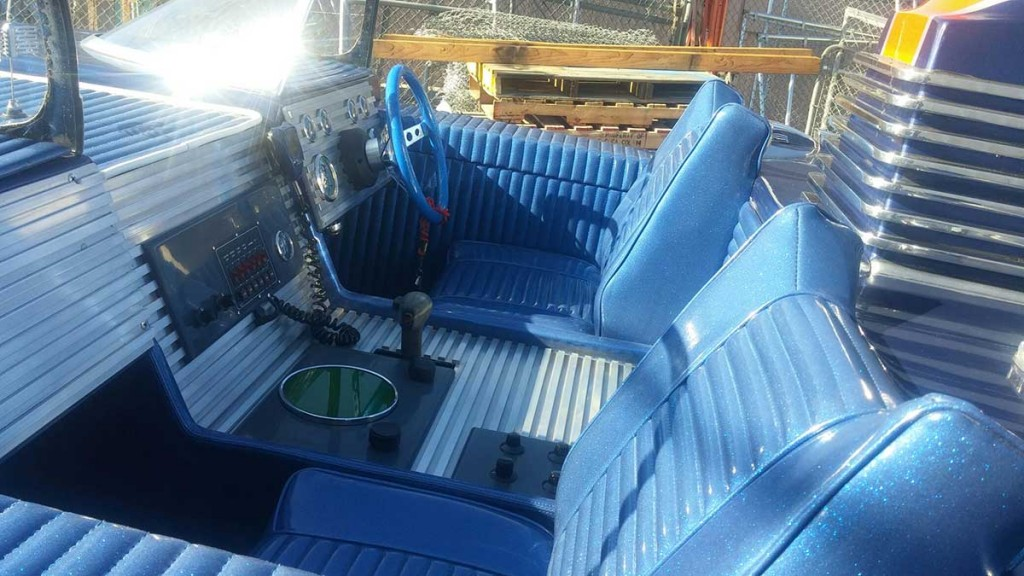 Batboat interior and console